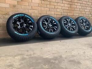 BLACK-WILDTRAK-FORD-RANGER-WHEELS-AND-A-T-TYRES-18-INCH-NEW-SET