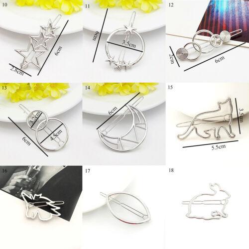 Retro 3D Geometric Star Moon Rhinestone Hair Clip Set Hairpin Hair Accessories