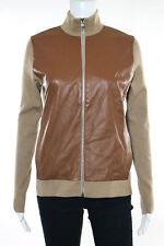 Ralph Lauren Brown Wool Long Sleeve Turtle Neck Zipper Front Jacket Size Medium