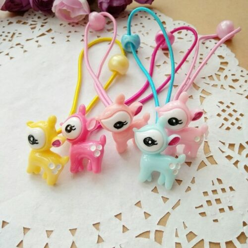 5pcs//lot Cute Deer Hair clips Ponytail Holder accessories for Kids Baby Girls