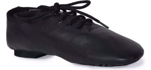Split Sole Jazz shoes Black leather