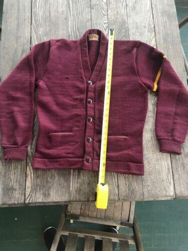 Vintage Antique Varsity Football Letterman Sweater