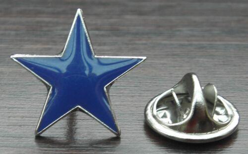 Blue Star Lapel Pin Badge Five-pointed Pentagram Brooch