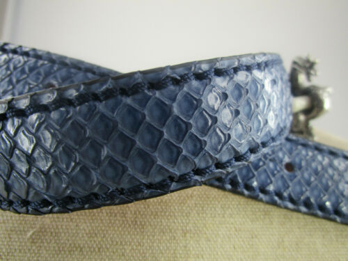 2,5 RHSP06 Original Reptile/'s House Gürtel Phython neu blau matt  schmal ca