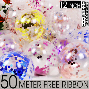 """Lot de 15 confettis ballons latex 12"""" décorations à L'hélium Fête D'anniversaire Mariage UK"""