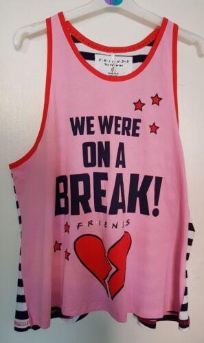 New F.R.I.E.N.D.S /'We were on a Break/' Vest Top PJ Womens Primark