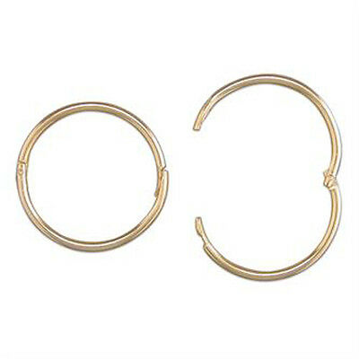 9ct Gold 15 Mm Mens Hinged Hoop 1 Sleeper Earring Ebay