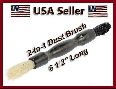 2-In-1 Black Dust Brush for Car truck RV Vent  Detailing & Cleaning Duster Tool