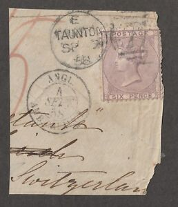 Great Britain stamp #27 on paper, QV,  CV $100