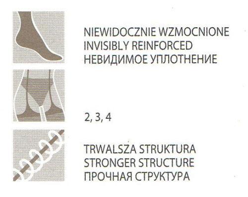Fiore Tiga Sensuous stockings beautiful patterned top.Smart matte finish 20 Den