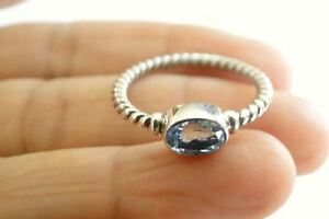 Oval-Blue-Topaz-Solitaire-Sterling-Silver-Twisted-Band-Ring-Size-6-7-25-8