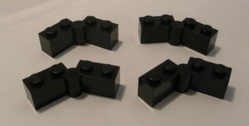LEGO 4 x Stein 1x4 Scharnier schwarz Gelenk black hinge 3830 3831