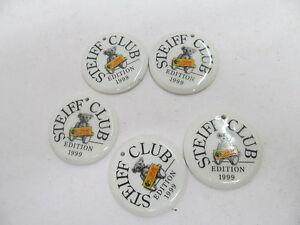 MES-42789 Steiff Club 5 St. Porzellanmarke<wbr/>n Edition 1999,Durchmess<wbr/>er ca.4,8cm,