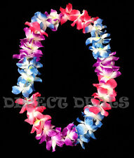 100 Hawaiian Lei Light Up Flashing Flowers Luau Hawaii Hula Graduation Necklace