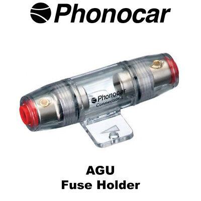 PHONOCAR 4 calibre calibre 8 AWG Portafusibles AGU en Línea Portafusibles COCHE AMP cableado