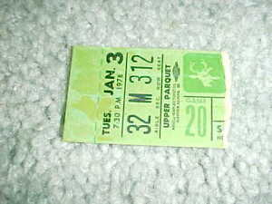 1978 Phoenix Suns v Milwaukee Bucks Basketball Ticket 1/3