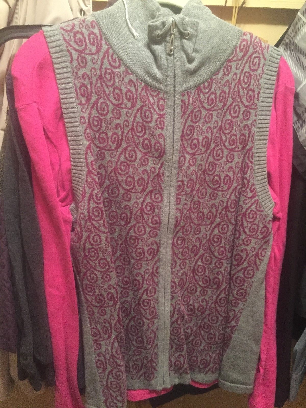 Christopher & Banks vest m and st johns top large… - image 1