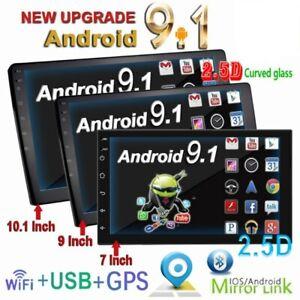 "10.1"" Android 9.1 Doppio 2 din Touch screen Autoradio stereo GPS Navi WIFI MP5"