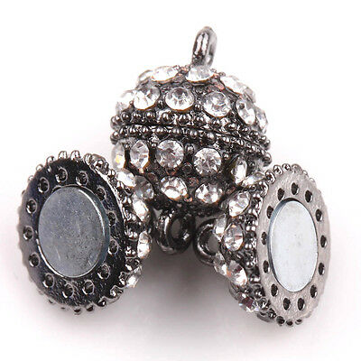 New 5/10 Sets Ball Crystal Rhinestone Strong Magnetic Clasps Makings DIY 3Colors