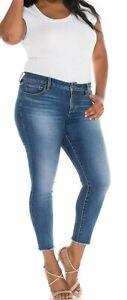 Hem Ny Frayed 22w med Slink 817373024362 Jeans Ankel Veronique Tag Størrelse Y7YTnP