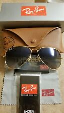 Ray-Ban Authentic Aviator Large Sunglasses Green Polarized Lens Rb3025 001/58