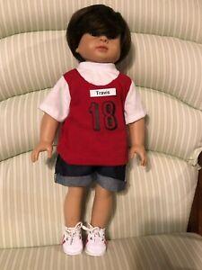 18 in American Fashion World Caden doll dressed in shirt