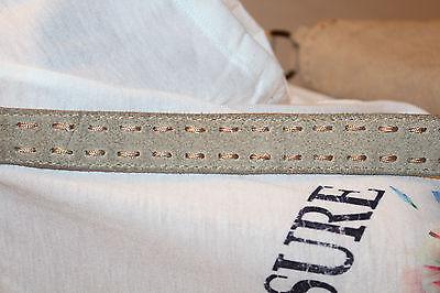 nT028t-BOUTIGUE UNIKAT weich echt Leder Velours beige natur FRANSEN Tasche NP69,