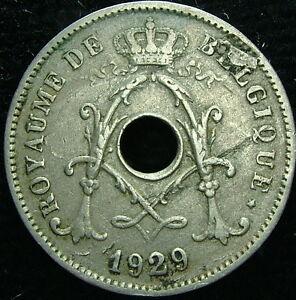 1929 Belgique Belgique Belgie 10 Cents Centimes Fautées Tealheab-08004932-401880969
