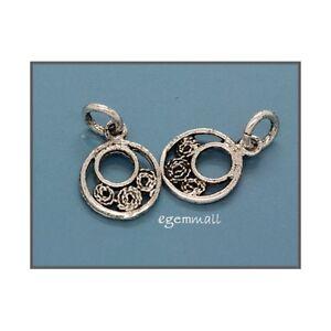 6-Silver-Antique-Look-Coin-Bracelet-Necklace-Charm-51431