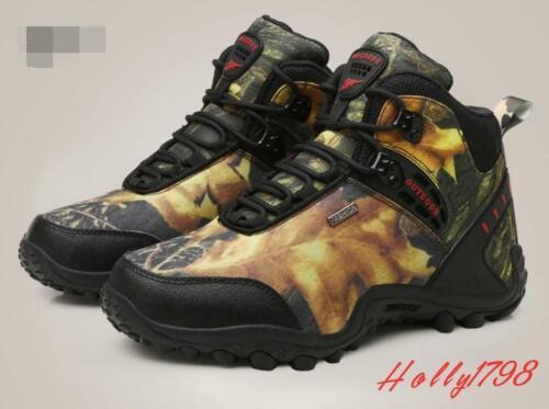 Homme Camouflage Imperméable Décontracté Randonnée Lace Up Boots Combat Escalade Chaussures