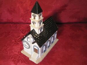 Ceramic Plaster Model Train Railroad Layout Display Building Steeple Church