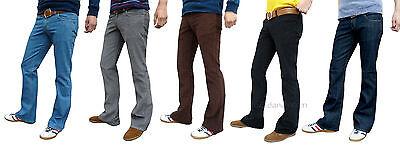 Ehrlich Bootcut Mens Cords Denim Flares 60's 70's Vtg Hippie Jeans Indie Pants Trousers