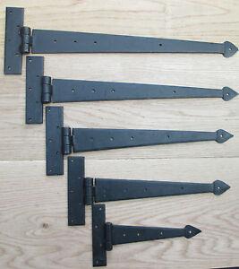 1-paire-forge-a-la-main-T-Charniere-Pointe-de-fleche-fer-forgeron-portail-porte