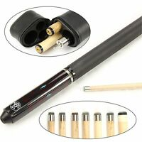 Jonny 8 Ball Dark Riss Double Shaft Ash Pool Cue & Case – Choose Two Shafts