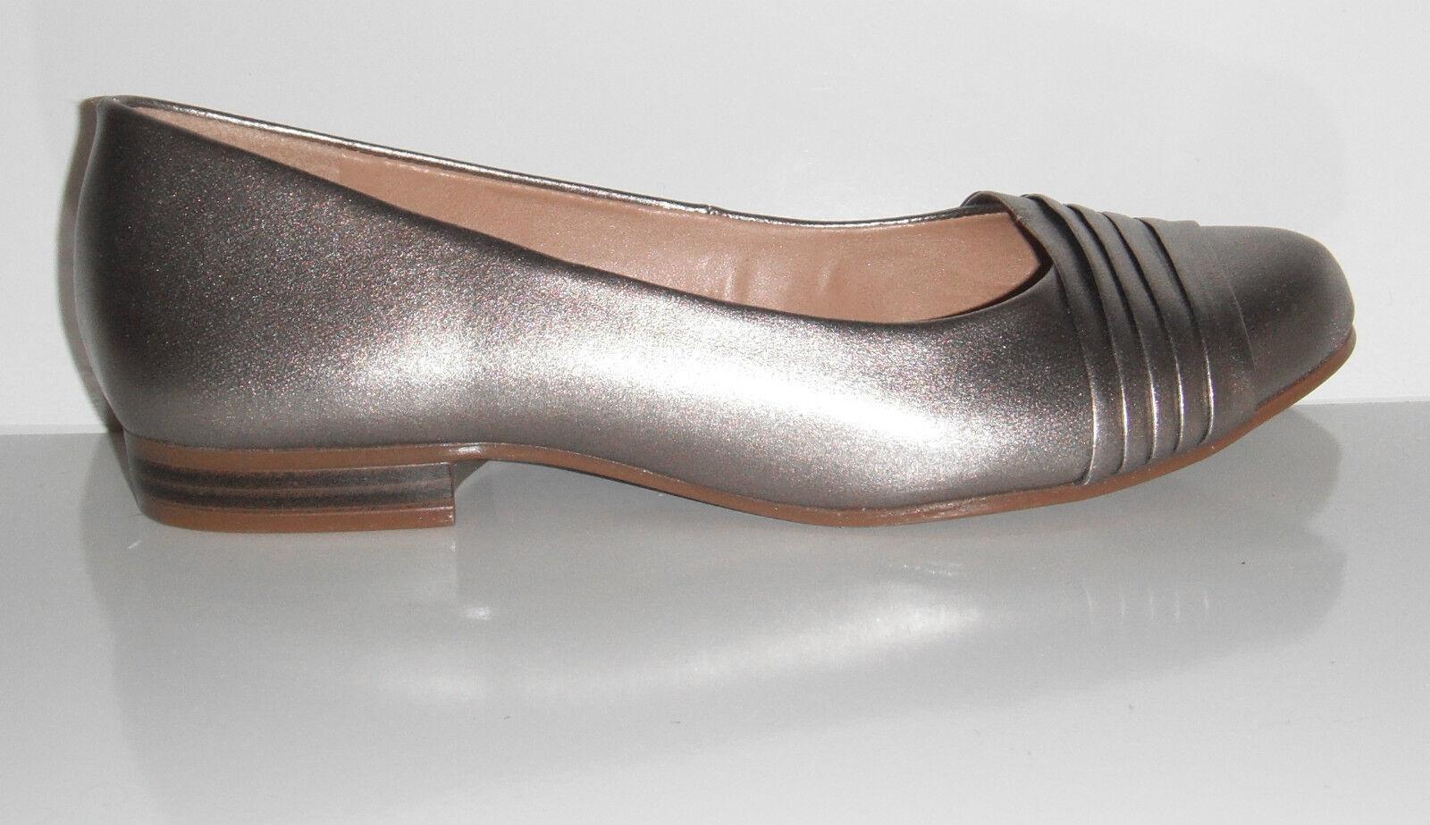 NIB Naturalizer Women's Leana Metallic Leather Ballet Flat shoes sz 6W