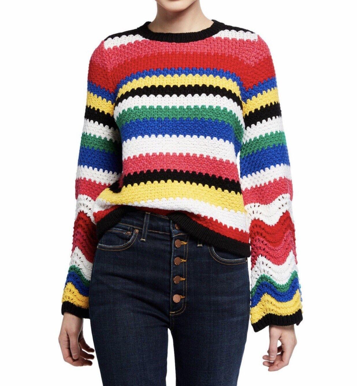 NWT  Alice + Olivia Bell Sleeve Sweater XS
