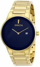 Invicta Men's 40mm Specialty 29472 Quartz 2 Hand Date Gold-Tone Blue Dial Watch
