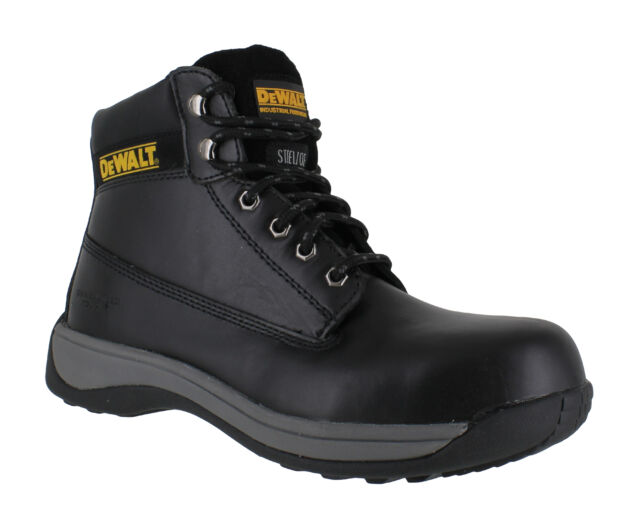 1a1a361cc20 Mens Dewalt Apprentice Leather SB Safety Steel Toe Lace up BOOTS Sizes 3 to  13 UK 11 Black