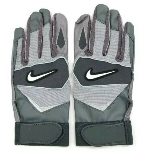 Nike Speedtack IV Leather Palm College Football Gloves Black//Grey XL Extra Large
