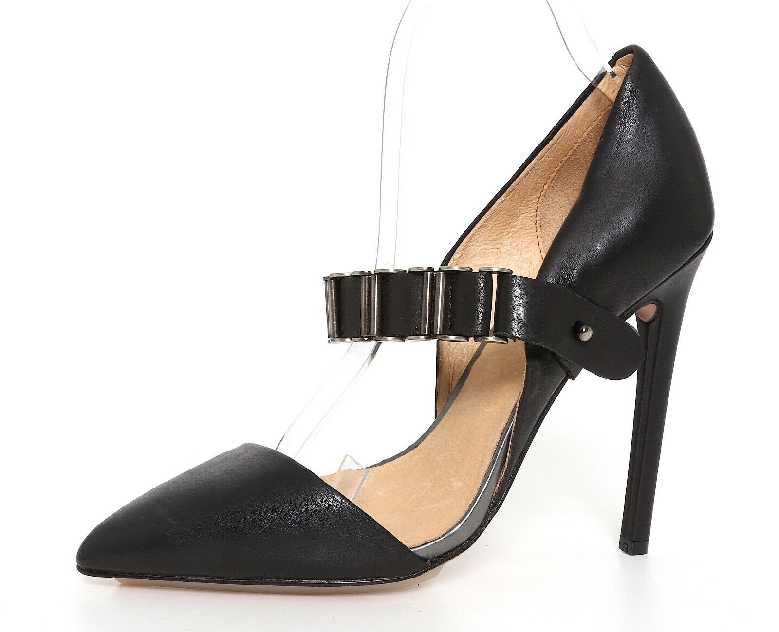 Felice shopping L.A.M.B. Tyna Tyna Tyna Chain Leather Pump nero donna Sz 8.5 M 1136  consegna veloce