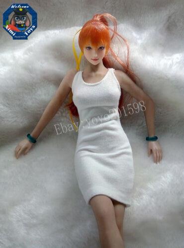 """Custom White 1//6  Female Clothing Dress For 12/"""" Phicen Women Seamless Body Doll"""