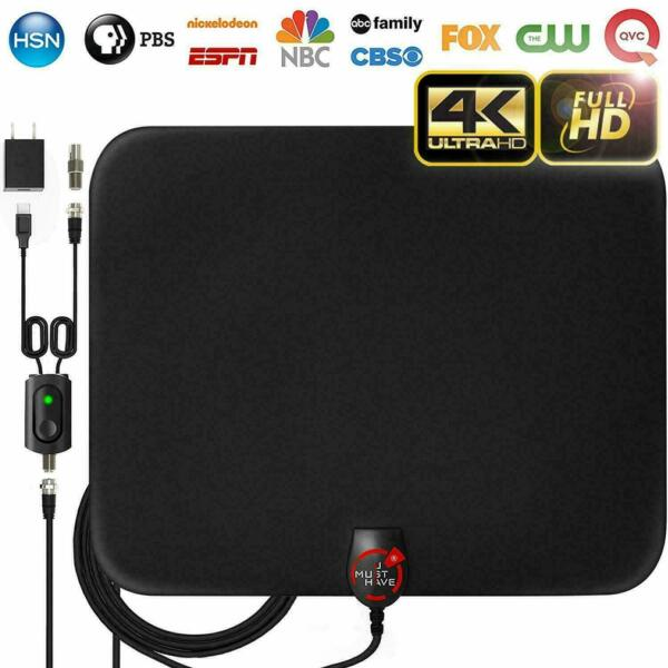 2019 Latest Amplified Hd Digital Tv Antenna Long 65-80 Miles Range Support 4k