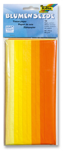 rot gelb blau grün 0,77 €//qm 70x50cm Blumenseide 10 Bogen im Farbmix
