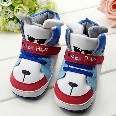 S024 Cute Dog Warm Cool Winter Boy's Boots Baby Toddler Shoes Velcro Shoes  AU