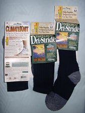 LADIES WOOL DOUBLE KNIT HIKING WALKING BOOT SOCKS 3 PAIR 3.5-7.5 MADE IN USA
