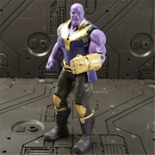 Avengers Movable Action Figure Super Heros Ironman Thor Hulk Glow PVC Xmas Toys