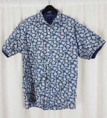 Mens Hawaiian Printed Shirt Vintage Casual Short Sleeeve Button Down Shirts