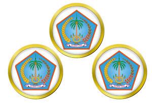 Nord-Sulawesi-Indonesie-Marqueurs-de-Balles-de-Golf