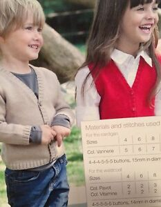 Boys-Cardigan-and-Girls-Waistcoat-age-4-16-years-Knitting-Pattern