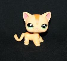 Littlest pet shop Figure cat orange shorthair kitten green eyes Lps233